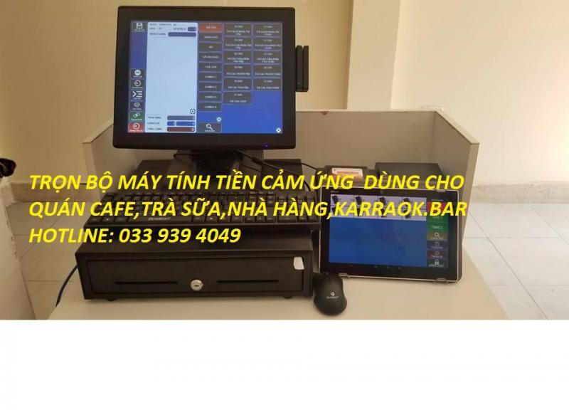 lắp đặt máy tính tiền cảm ứng dùng cho nhà hàng tại đồng tháp