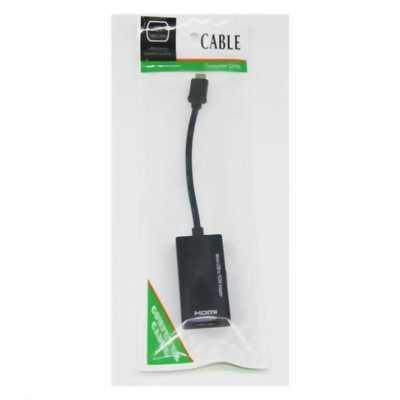 Cáp MHL chuyển Micro USB to HDMI màu Đen