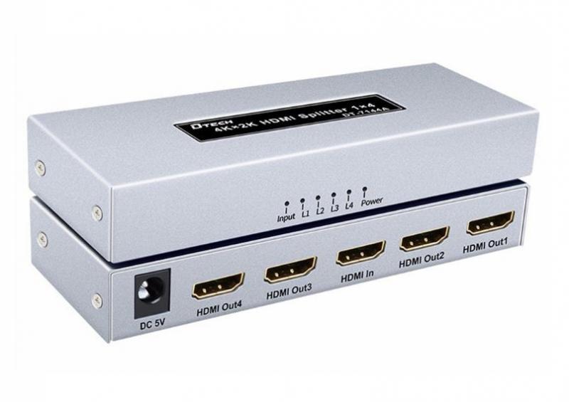 Box chia 1 ra 2 HDMI DTECH  DT-7142A hàng chính hãng 100%