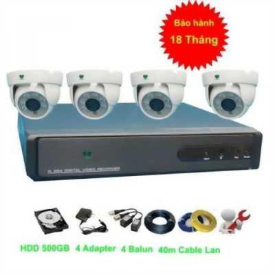 Bộ 4 camera quan sát an ninh chống trộm AHD 720P