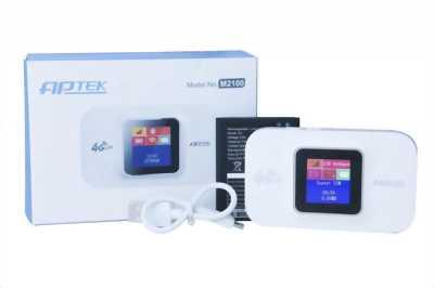 Cục phát wifi di động bằng sim 4G Aptek M2100 chính hãng
