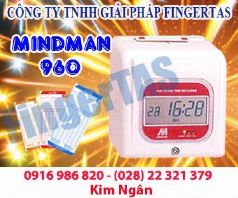 Máy chấm công thẻ giấy M960/M960A tặng kèm thẻ kệ giá cạnh tranh