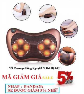 Gối Massage 8bi Hồng Ngoại Mới
