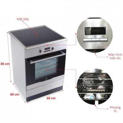 Electrolux - bếp 4 từ liền lò nướng EKI64500OX