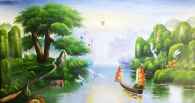 Tranh 3d phong cảnh sơn thủy