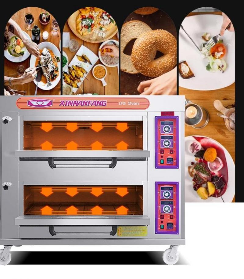 Lò nướng bánh 2 tầng 4 khay 545