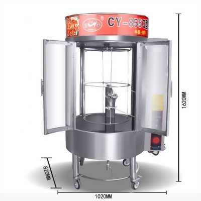 Lò quay gà vịt kính trong dùng than,gas,điện