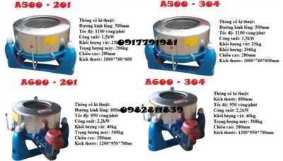 Máy vắt li tâm công nghiệp 25-220kg hàng công ty