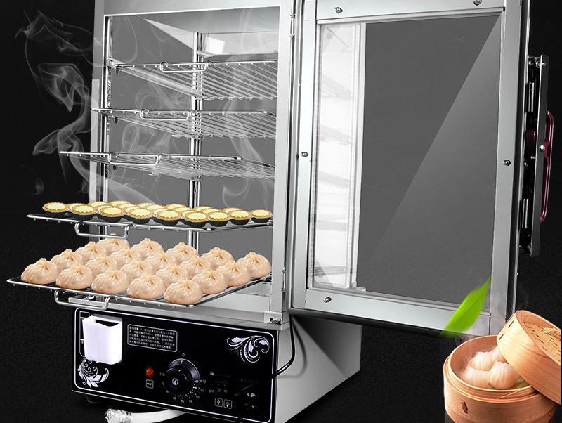Tủ hấp bánh bao 5 khay dùng điện DG21