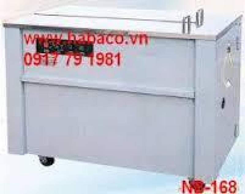 Máy đóng đai thùng NB 168 hàng công ty 2102