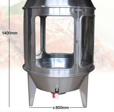 Lò quay gà vịt dùng kính 0917791981