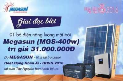 Cần bán bộ máy điện năng lượng mặt trời megasun mgs-400w