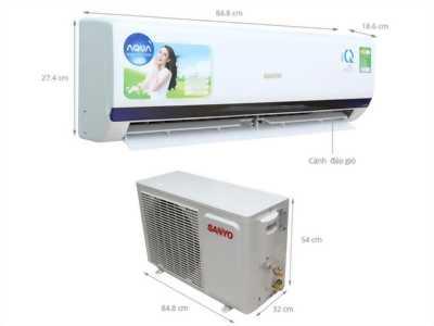 Mình cần thanh lý Máy lạnh Sanyo 1,5HP,  bảo hành 1 năm