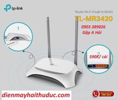 Thiết bị phát wifi TP-Link TL-MR3420 hỗ trợ USB 3/ 4G tốc độ cao