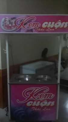 Cần bán gấp máy 2 chảo và công thức làm kem cuộn ngon, sạch