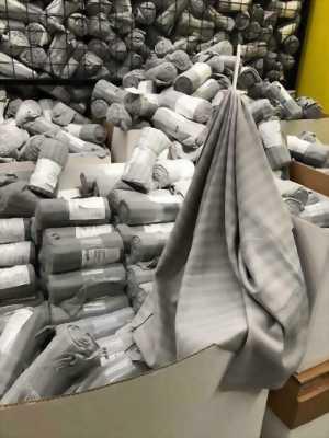 Chăn mền kẻ sọc ngang Ikea màu xám ghi chính hãng
