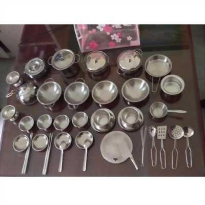 Bộ đồ nhà bếp 40 món mạ bạc