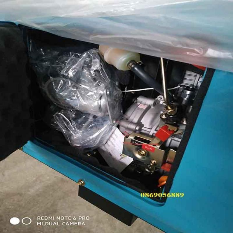 Máy phát điện bamboo chạy dầu 6kw, có tủ ATS siêu chống ồn