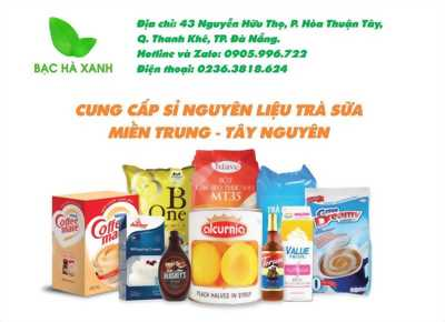 Bạc Hà Xanh -nhà phân phối cung cấp sỉ nguyên liệu trà sữa miền Trung Tây Nguyên