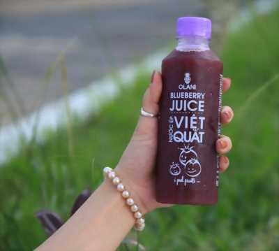 Giải nhiệt hè ngay với nước ép Việt quất