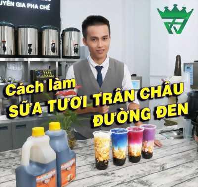 Nguyên liệu sữa tươi trân châu đường đen
