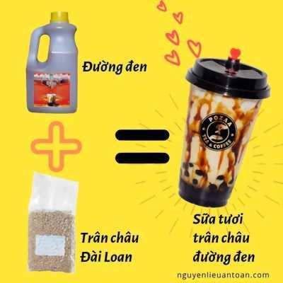 Nguyên liệu sữa tươi trân châu đường đen thơm ngon