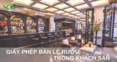Dịch vụ xin giấy phép bán lẻ rượu trong khách sạn