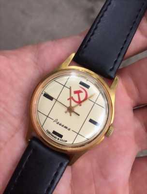 Đồng hồ Nga lắc kê vàng huy hiệu Đảng Cộng Sản
