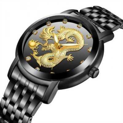 Đồng hồ nam dây thép mặt rồng