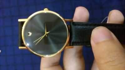 Đồng hồ dây da đen