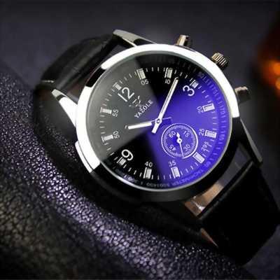 Đồng hồ dây da nam YZL271 (Đen).