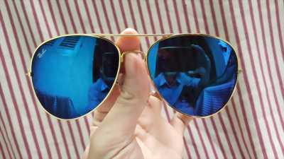 Mắt kính gương thời trang 2018 nam nữ - màu xanh