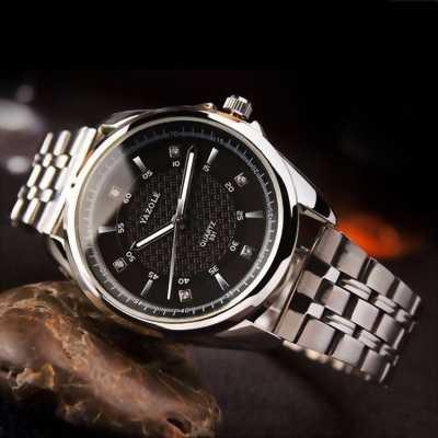 Đồng hồ nam đẹp Yazole dây thép công sở tại Bình Tân