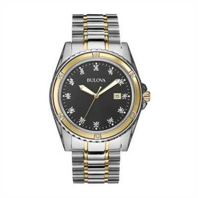 Đồng hồ nam BULOVA Diamond Black Dial 98D122