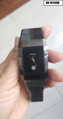 Đồng hồ nam mặt vuông dây đá ceramic đen cực kỳ độc đáo