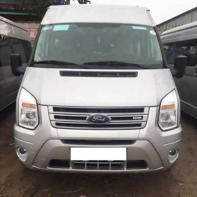 Cần bán xe Ford Transit 2018 máy dầu số sàn, xe màu bạc