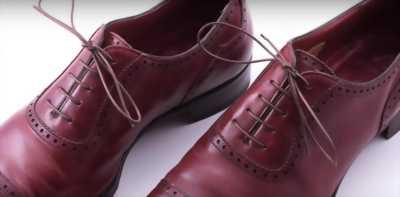 Giày tây loafer đỏ rượu size 40-41