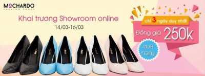 Mochardo khuyến mãi online đồng giá giày 250K