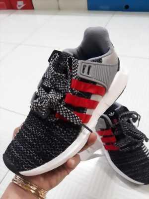 Giày Sneaker nam thể thao màu xám muối tiêu 3 sọc