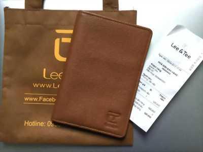 Ví Passport da bò Lee&Tee Mới 100%