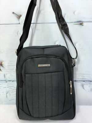 Túi đeo chéo vải màu xám đen có quai xách TDC0018