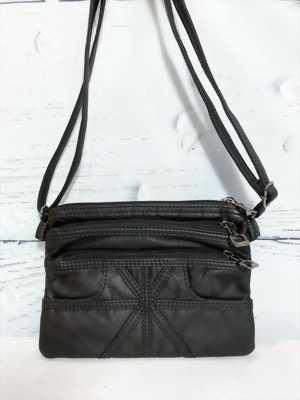 Túi xách nữ nhiều ngăn màu đen đeo vai TX0001