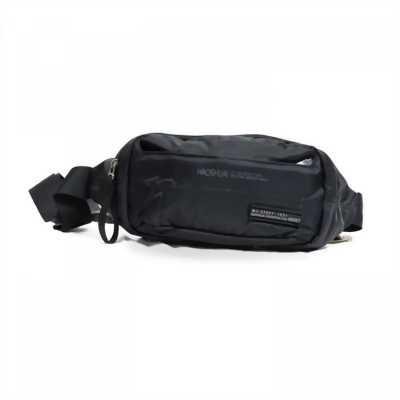 Túi bao tử đeo chéo Haoshuai vải dù màu đen bền đẹp TDC0027