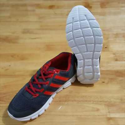 Giày Adidas classic xám sọc đỏ