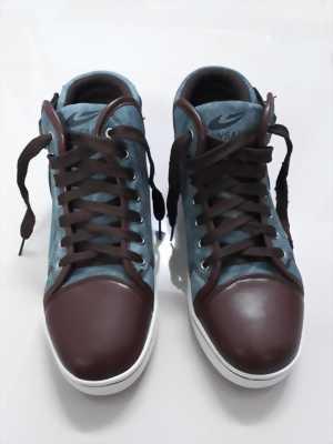 Giày Jinsaike cổ cao jean-da mẫu đẹp, kèm miếng độn giày