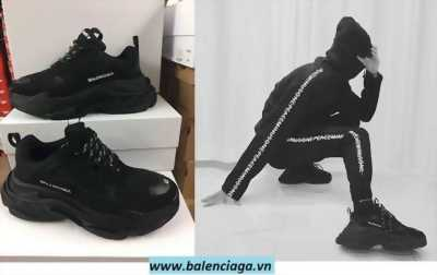 Giày Balenciaga Triple S black nam nữ giá sale cực sock