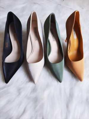 Giày nữ cao gót 9P bít mũi trơn màu da vân phi bóng Mã 6217-09