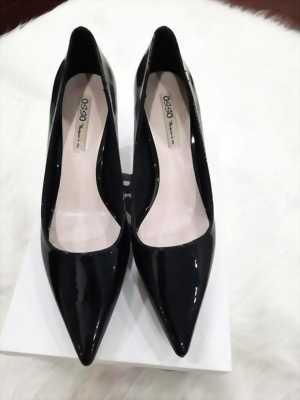 Giày cao gót 5 cm mũi nhọn trơn bóng Mã 996-07