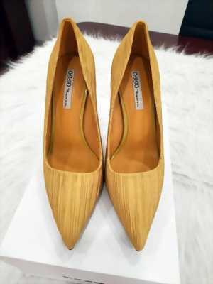 Giày cao gót 9 cm màu vân gỗ nâu sáng Mã 6217-10