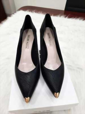 Giày cao gót 5cm da sần mũi bít kim loại Mã 827-02